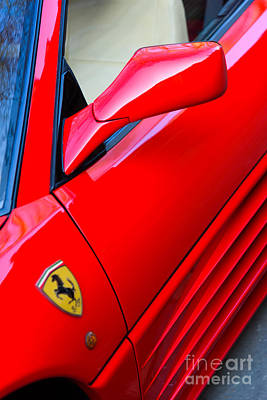 Photograph - Ferrari Side View, At An Angle by Colin Rayner