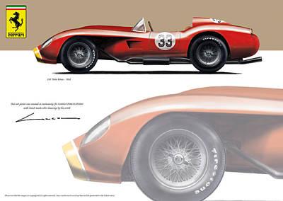 Ferrari Super Squalo F1 1955 Art Print by Luc Cannoot