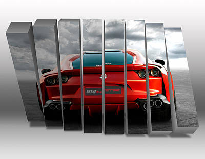 Mixed Media - Ferrari Supercar by Marvin Blaine