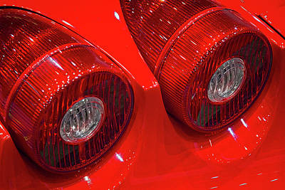 Photograph - Ferrari Tail Lights by Stuart Litoff