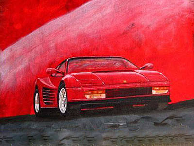 Painting - Ferrari Testarrossa by Richard Le Page