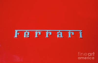 Photograph - Ferrari by Tony Baca