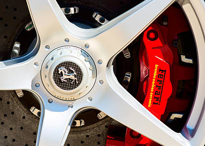 Photograph - Ferrari Wheel 0416 by Rospotte Photography