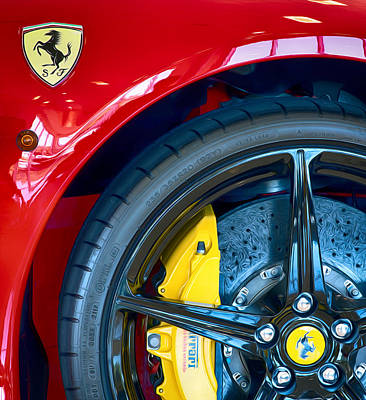 Photograph - Ferrari Wheel 121915 by Rospotte Photography