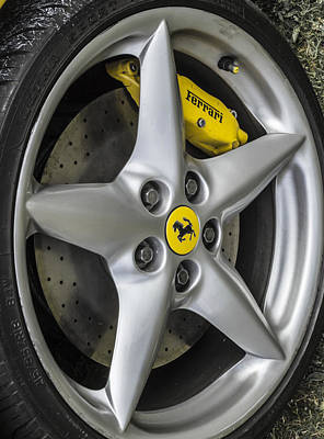 Ferrari Wheel And Tyre  Art Print by Claire  Doherty