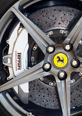 Photograph - Ferrari Wheel Charcoal by Rospotte Photography