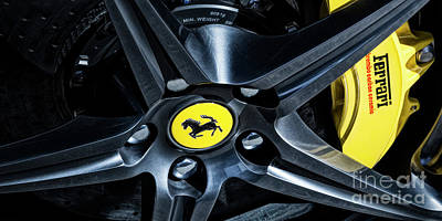 Photograph - Ferrari Wheel I by Brad Allen Fine Art