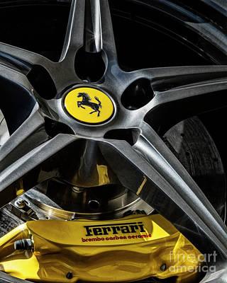 Photograph - Ferrari Wheel II by Brad Allen Fine Art