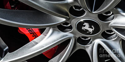 Photograph - Ferrari Wheel Iv by Brad Allen Fine Art