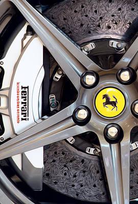 Photograph - Ferrari Wheel Op 121915 by Rospotte Photography