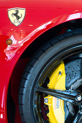 Photograph - Ferrari Wheel Red by Rospotte Photography