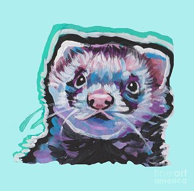 Painting - Ferret Fun by Lea