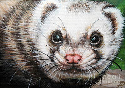 Ferret Painting - Ferret by Larissa Prince