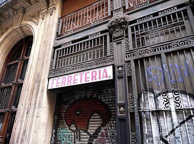 Photograph - Ferreteria Barcelona by John Rizzuto