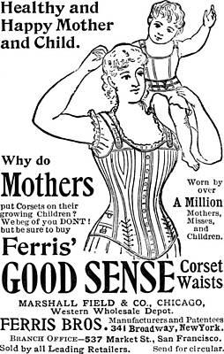 Mixed Media - Ferris Good Sense Corset Waists - Marshall Field And Co - Chicago, New York by Studio Grafiikka