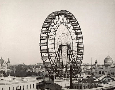 Photograph - Ferris Wheel, 1893 by Granger