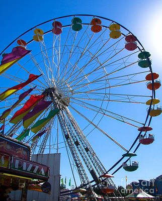 Photograph - Ferris Wheel 2 by Andrea Anderegg