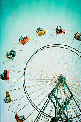 Carnival Wall Art - Photograph - Ferris Wheel 2 by Kim Fearheiley