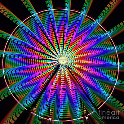 Photograph - Ferris Wheel Absract by Sonya Lang