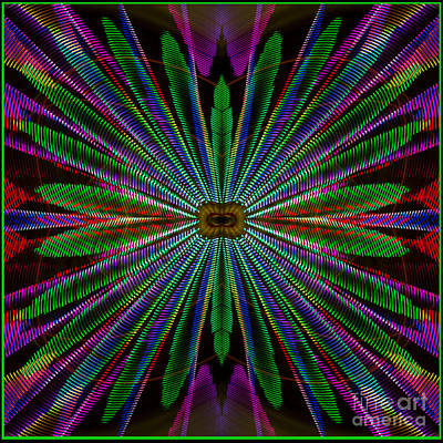 Photograph - Ferris Wheel Abstract by Sonya Lang