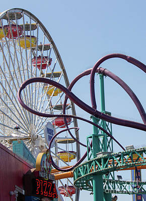 Photograph - Ferris Wheel And Octopus Tentacles by Cheryl Del Toro