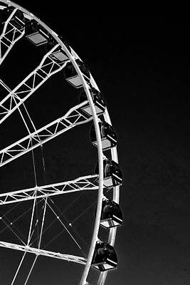 Photograph - Ferris Wheel At Navy Pier, Chicago No. 1-2 by Sandy Taylor