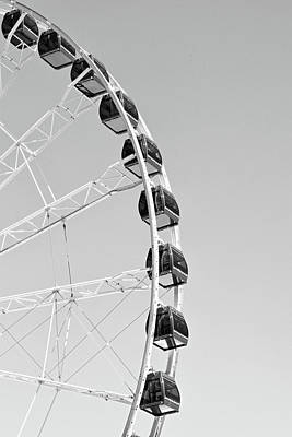 Metal Photograph - Ferris Wheel At Navy Pier, Chicago No. 1-1 by Sandy Taylor