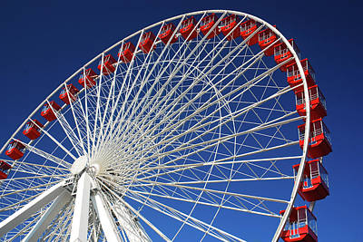 Photograph - Ferris Wheel At Navy Pier by James Kirkikis