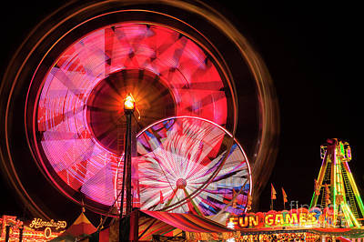 Photograph - Ferris Wheel At Night by Jim Corwin