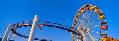Ferris Wheel At Santa Monica Pier Print by Panoramic Images