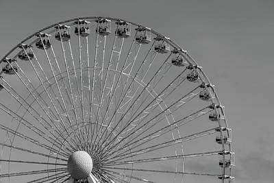Photograph - Ferris Wheel B/w by Jennifer Ancker