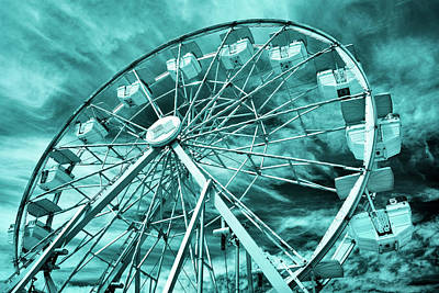 Photograph - Ferris Wheel Blues by Luke Moore