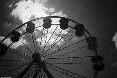 Photograph - Ferris Wheel Bw by Debra Forand
