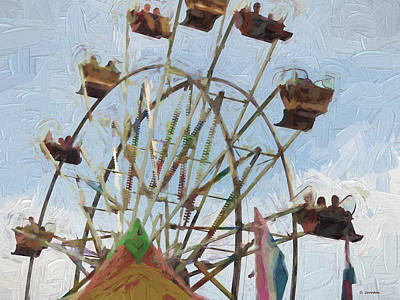 Painting - Ferris Wheel by Cathy Jourdan