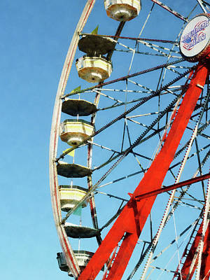 Amusement Park Photograph - Ferris Wheel Closeup by Susan Savad