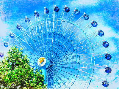 Mixed Media - Ferris Wheel Dream Sky by Susan Lafleur
