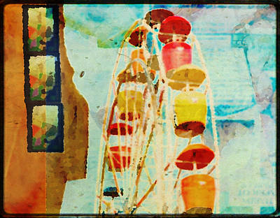 Ferris Wheel Fun Art Print by Toni Hopper