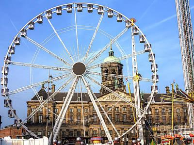 Photograph - Ferris Wheel In Dam Square by John Rizzuto