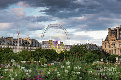 Photograph - Ferris Wheel In Motion At The Tullieries Garden In Paris France by Alissa Beth Photography