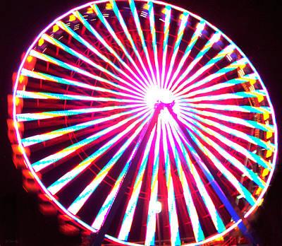 Photograph - Ferris Wheel In Motion by Shawna Rowe
