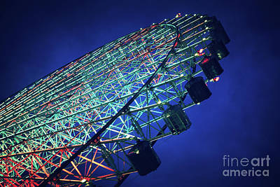 Funfair Photograph - Ferris Wheel by Jane Rix