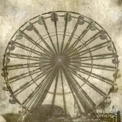 Digital Art - Ferris Wheel by Laurie Hasan