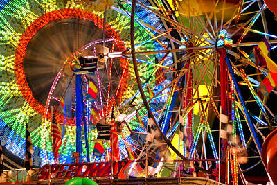 Florida State Fair Photograph - Ferris Wheel Madness by David Lee Thompson