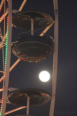 Photograph - Ferris Wheel Moon by Robert Banach