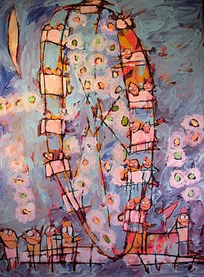 Amusement Parks Painting - Ferris Wheel Of Life Sold by Charlie Spear