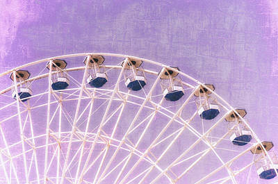 Photograph - Wonder Wheel Series 1 Purple by Marianne Campolongo