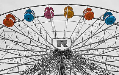 Photograph - Ferris Wheel by Shirley Radabaugh