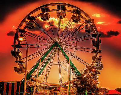 Photograph - Ferris Wheel Sunrise by Steve Benefiel