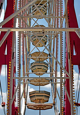 Photograph - Ferris Wheel Symmetry by John Cardamone