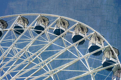 Photograph - Ferris Wheel Texture Series 2 Blue by Marianne Campolongo